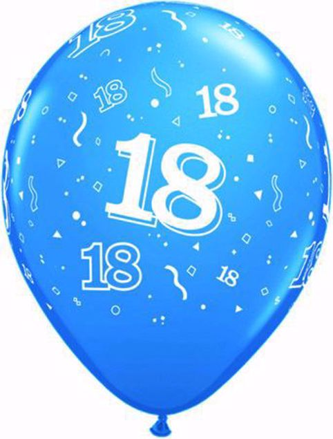 Picture of Latexballon 18 Geburtstag Fashion Robins Egg Blau 11 inch