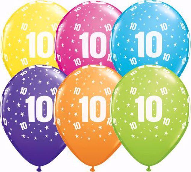Bild von Latexballon 10 Bunt Geburtstag 11 inch