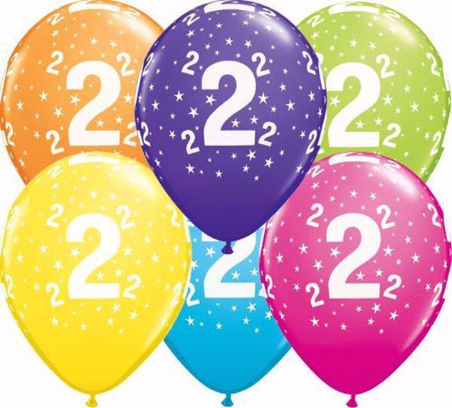 Bild von Latexballon 2 Bunt Geburtstag 11 inch