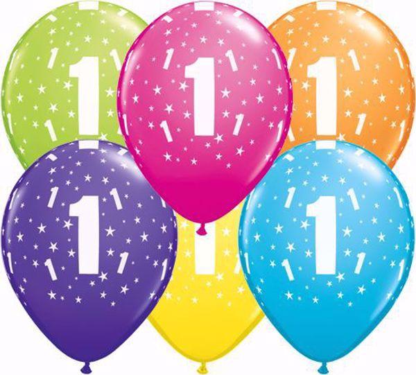 Picture of Latexballon 1 Bunt Geburtstag 11 inch