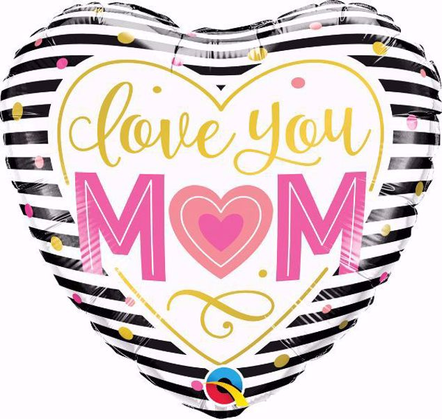 Bild von Folienballon 'Love You Mom'