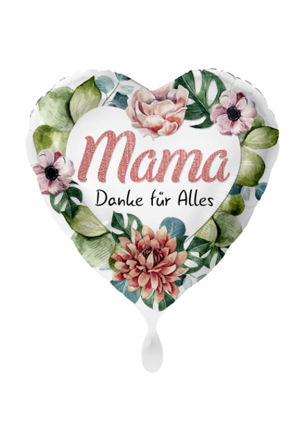 Picture of Mama Danke für alles Muttertag Blumen Folienballon 70 cm