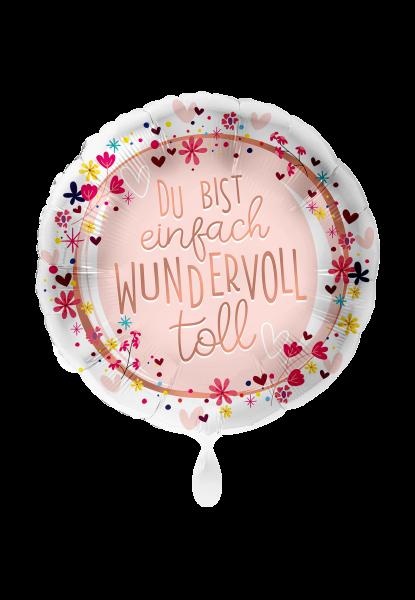 Picture of Du bist einfach wundervoll Folienballon 70 cm rund -