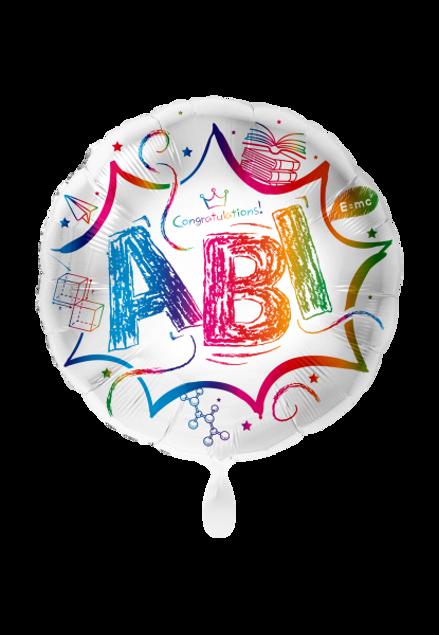 Bild von Abitur ABI Bunt Folienballon rund 70 cm