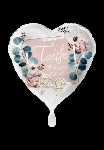 Bild von Folienballon Taufe Glückwunsch Baby Herz