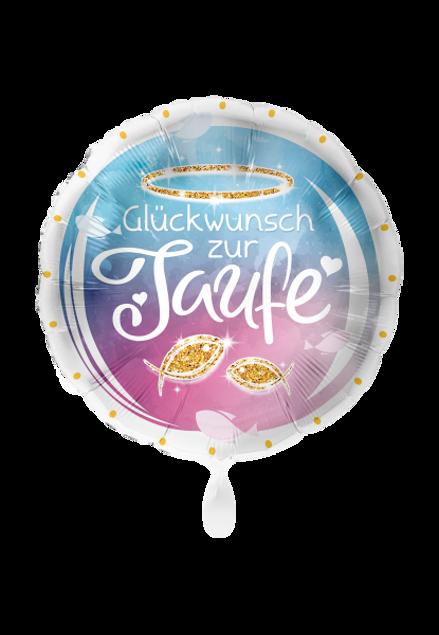 Bild von Folienballon Taufe Glückwunsch Baby rund