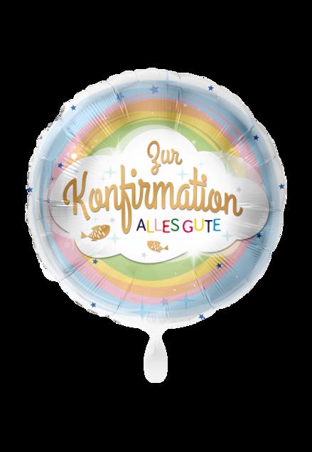 Picture of Konfirmation Glückwunsch Kreuz Christ Folienballon rund 70 cm