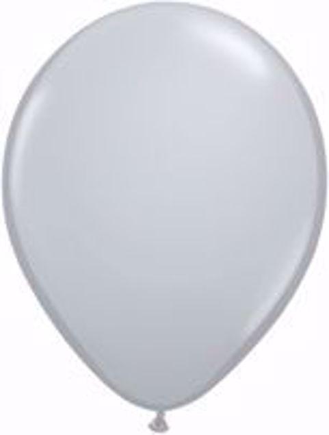 Bild von Latexballon rund Fashion Grau Qualatex 11 inch