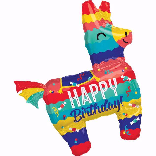 Bild von Folienballon Lama Happy Birthday