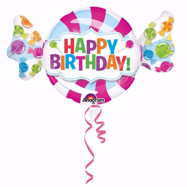Picture of Folienballon Riesenbonbon Happy Birthday