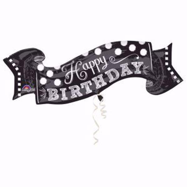Picture of Folienballon Happy Birthday Chalkboard