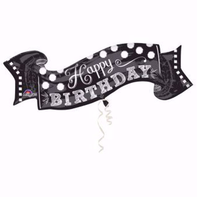 Bild von Folienballon Happy Birthday Chalkboard