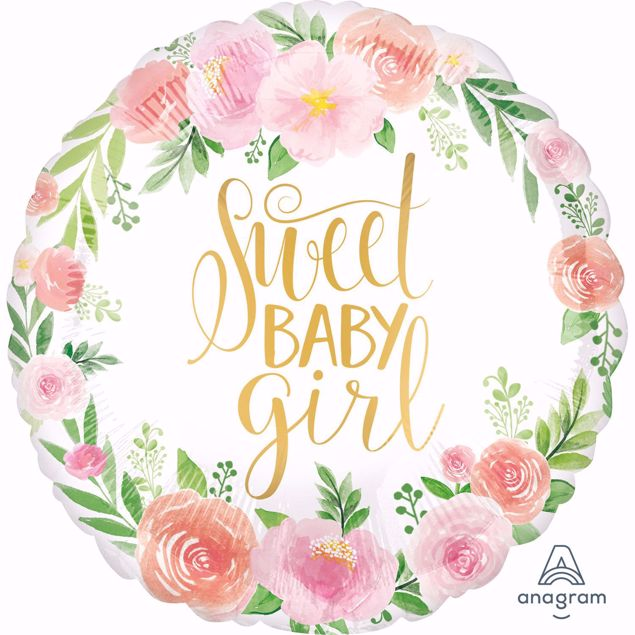 Bild von Sweet Baby Girl Folienballon
