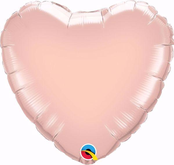 Bild von Folienballon Herz Rose Gold