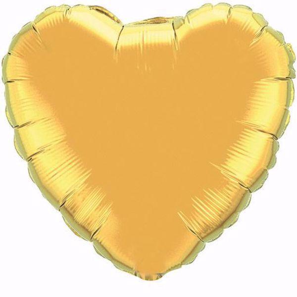 Bild von Folienballon Herz Qualatex 18 inch Gold