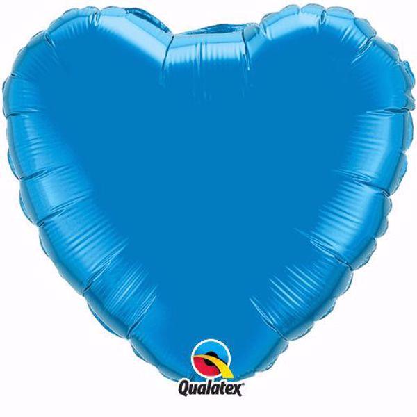 Bild von Folienballon Herz Saphire Blau