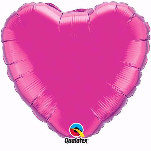 Bild von Folienballon Herz Magenta
