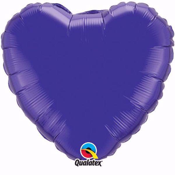Bild von Folienballon Herz Quartz Purple