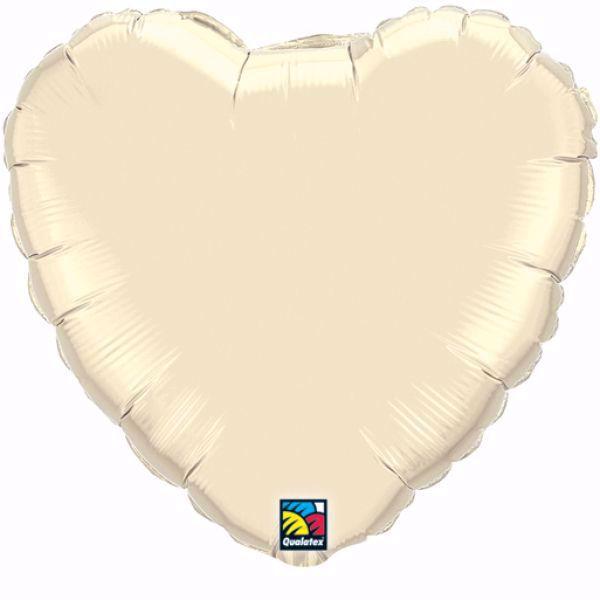 Bild von Folienballon Herz Pearl Ivory