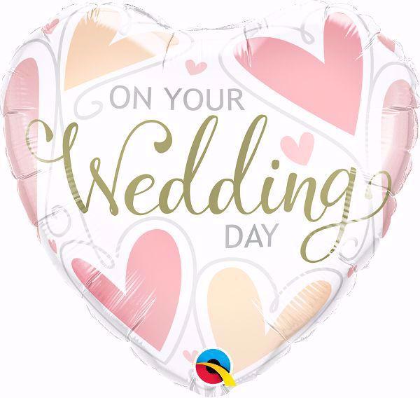 "Picture of Folienballon Hochzeit Herz ""On our wedding day"""