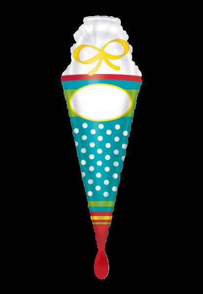 Picture of Folienballon Supershape Einschulung Schultüte DIY