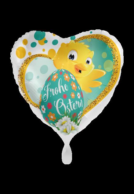 Bild von Folienballon Frohe Ostern Küken 43cm