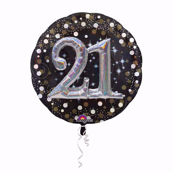 Bild von Folienballon Multi-Balloon Sparkling Birthday 21