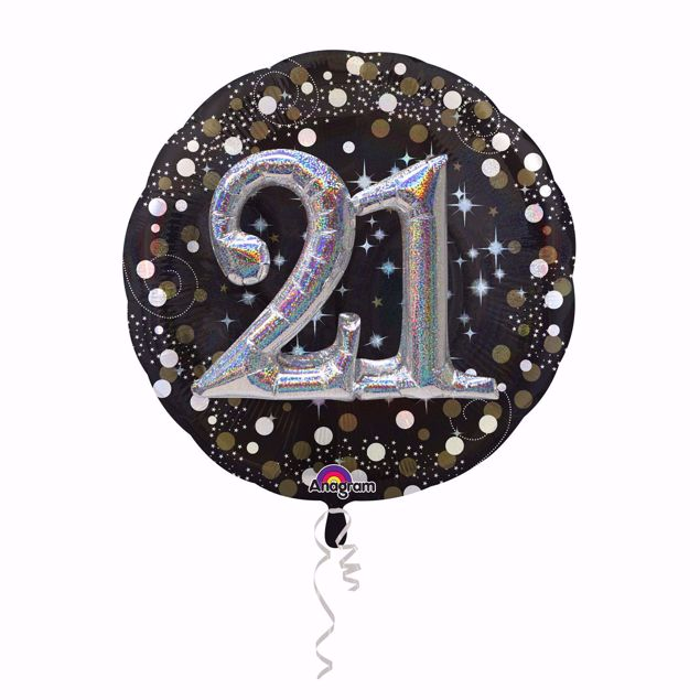 Picture of Folienballon Multi-Balloon Sparkling Birthday 21