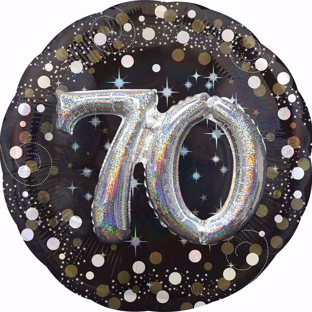 Picture of Folienballon Multi-Balloon Sparkling Birthday 70