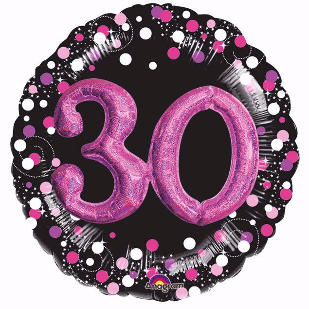 Bild von Folienballon Multi-Balloon Sparkling Pink 30