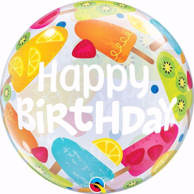 Bild von SINGLE BUBBLE Happy Birthday Eis
