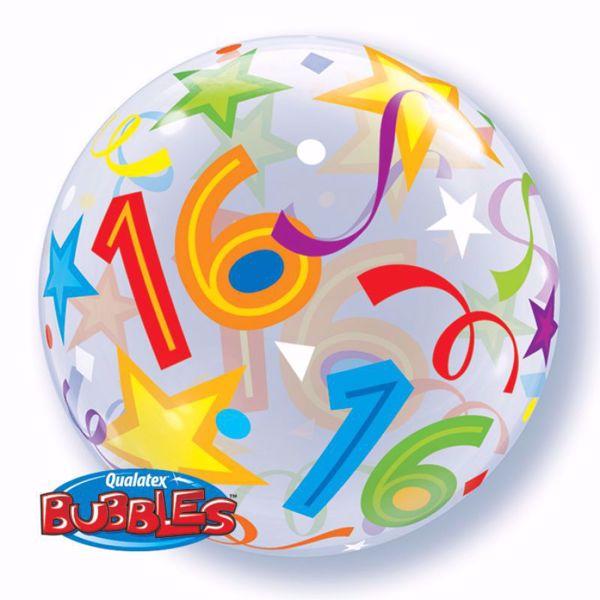 """Picture of SINGLE BUBBLE """"16"""" BRILLIANT STARS"""