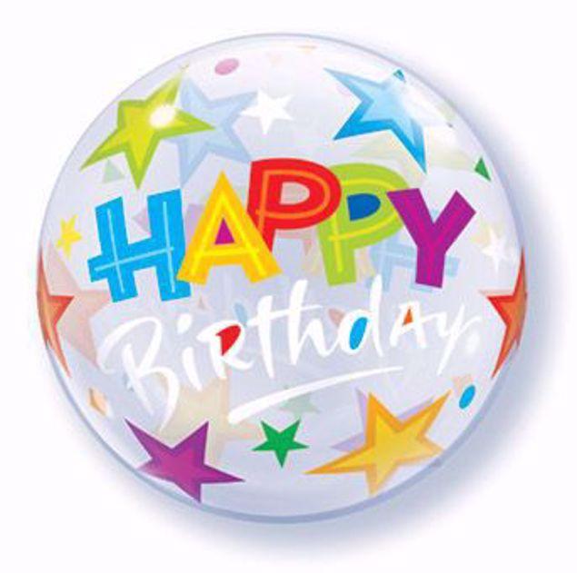 Bild von SINGLE BUBBLE Happy Birthday Sterne