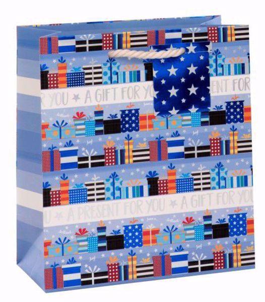Picture of Päckchen Blau Bag medium