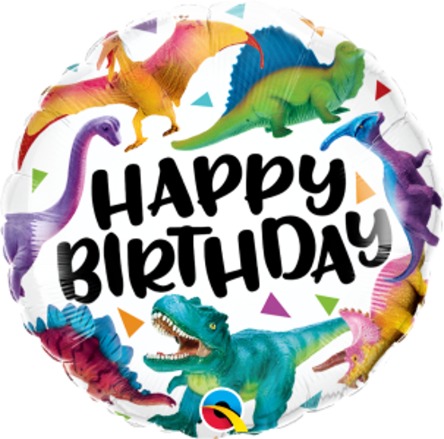 "Picture of Folienballon 18"" BIRTHDAY COLOURFUL DINOSAURS"