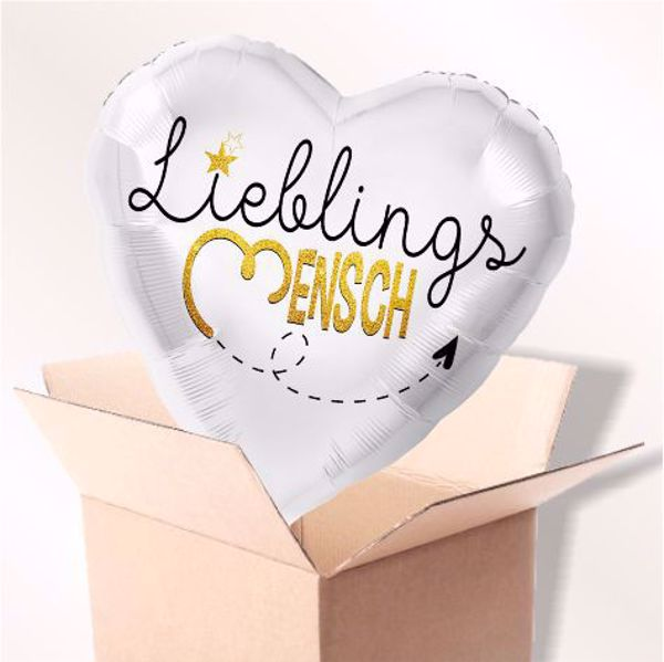 Bild von Folienballon Lieblingsmensch Herz im Karton