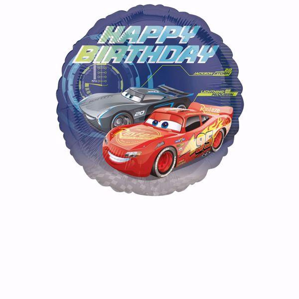 Bild von Cars - Happy Birthday Folienballon rund