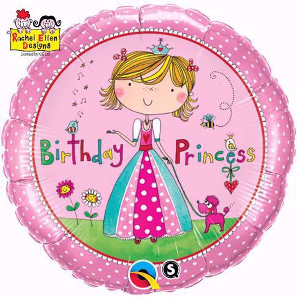 Bild von Folienballon Birthday Princess