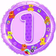 Bild von Folienballon Alter 1 rosa
