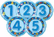 Picture of Folienballon Alter 4 blau
