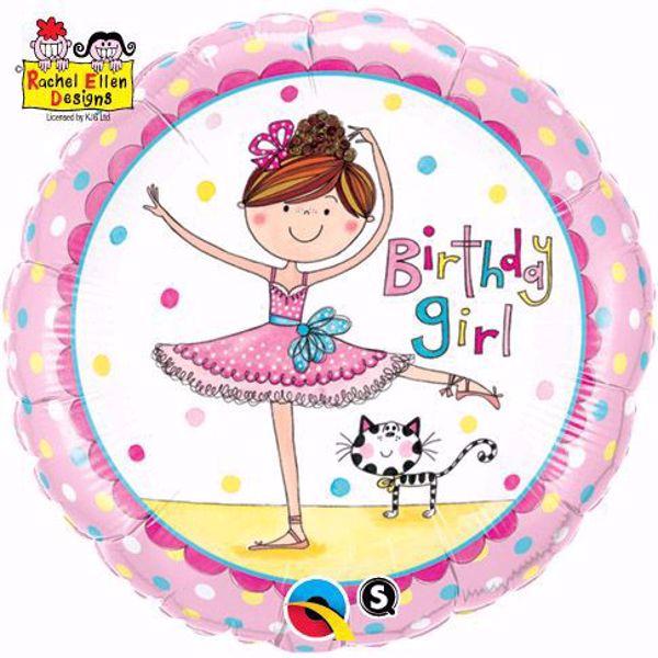 Picture of Folienballon Birthday Girl Ballerina