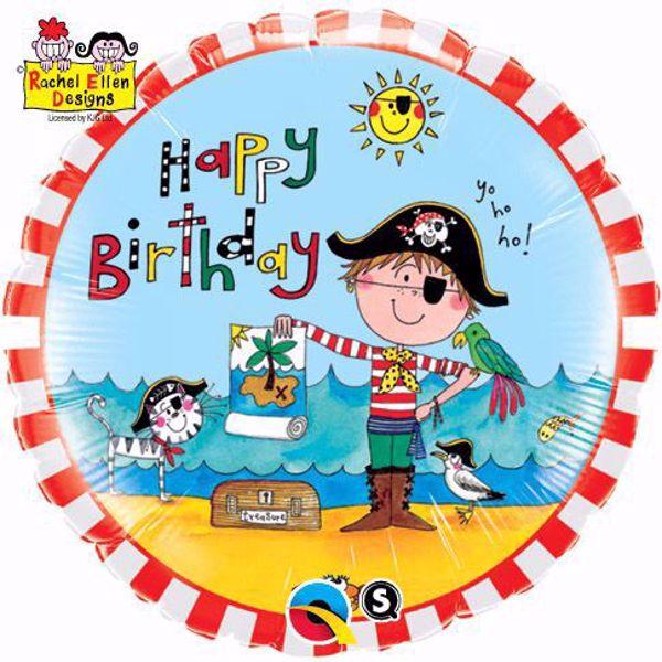 Picture of Folienballon Happy Birthday Pirat