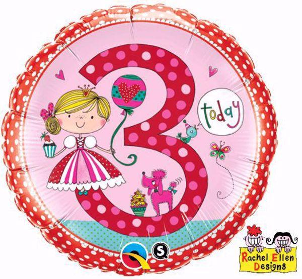 Picture of Folienballon Alter 3 Prinzessin