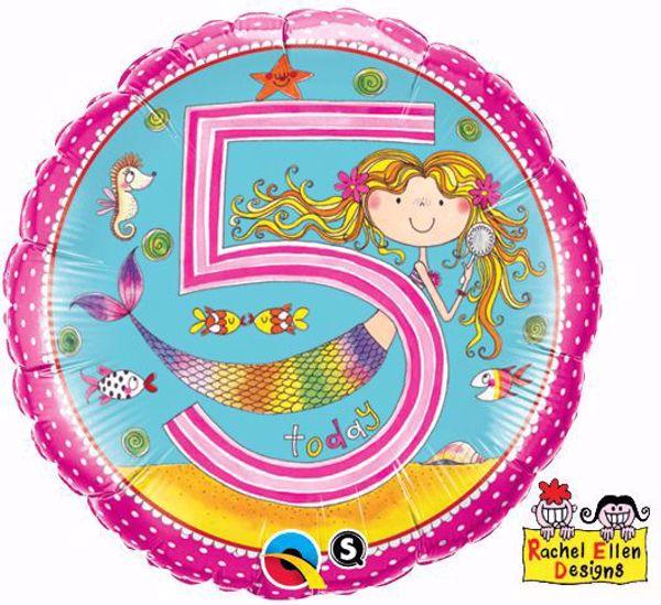 Bild von Folienballon Alter 5 Meerjungfrau