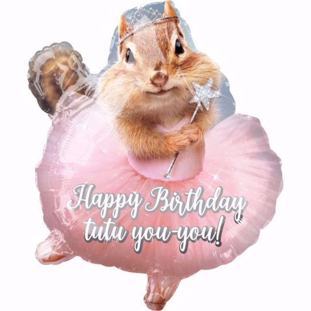Bild von Supershape Avanti Birthday Streifenhörnchen Ballerina