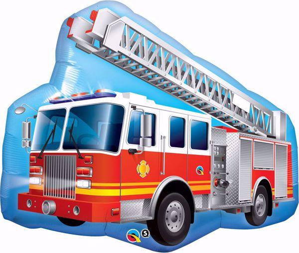 Bild von Supershape rotes Feuerwehrfahrzeug