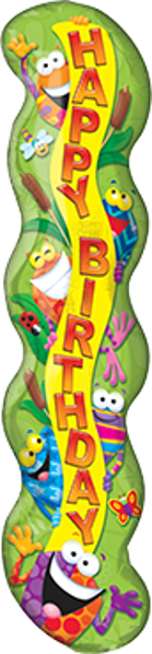 Bild von Folienballon Happy Birthday Frog-tastic