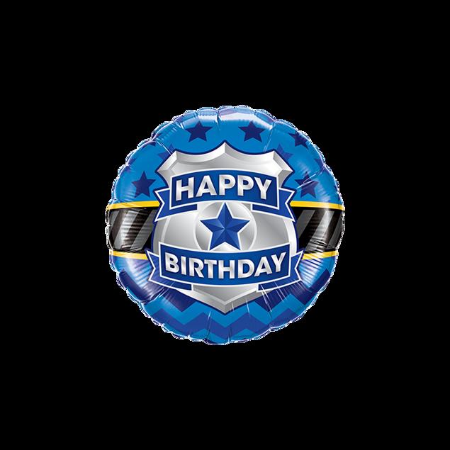 Picture of Folienballon Happy Birthday Abzeichen