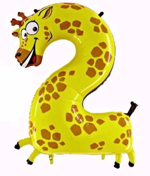 "Picture of Folienballon Animaloons ""2"" Giraffe"