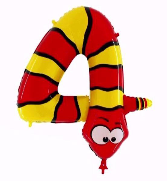 "Bild von Folienballon Animaloons ""4"" Schlange"